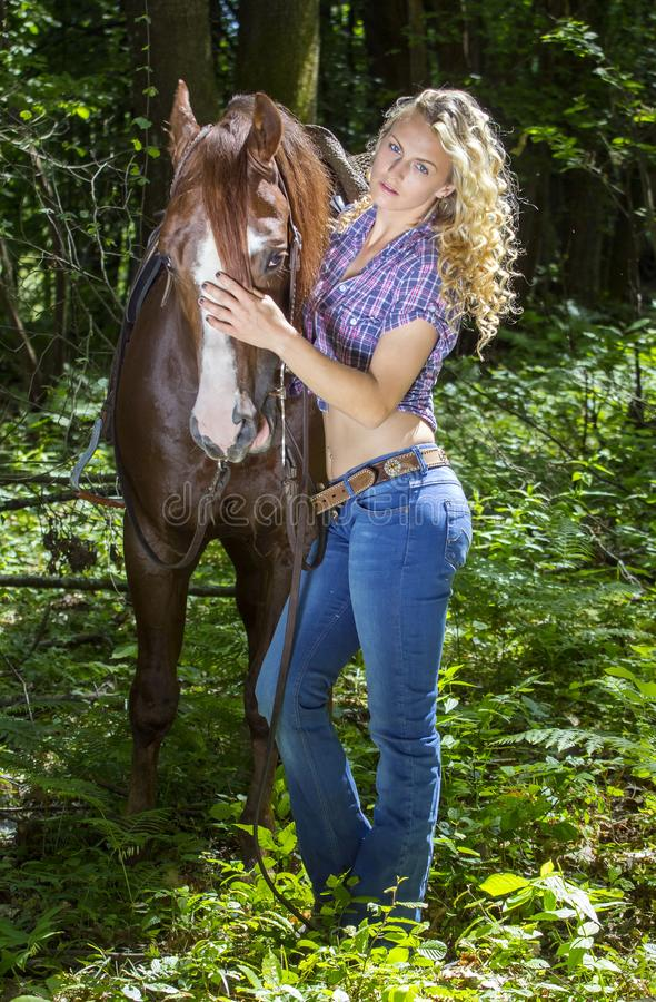 sexy cowgirl riding